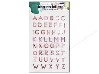 Sewing Construction ABC & 123: Rhinestud Iron-on Letters by Dritz Hot Pink