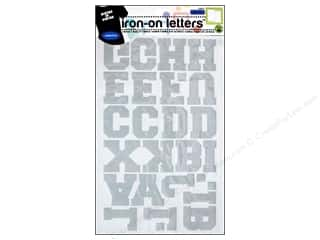 iron on letters: Dritz Iron On Letters Athletic Reflective Silver