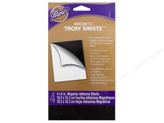 Aleene&#39;s Magnetic Dry Adhesive Tacky Sheet 4x6 4pc