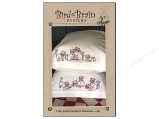 "Bird Brain Design 4"": Bird Brain Designs Frisky Kitties RedWork Pillowcase Pattern"