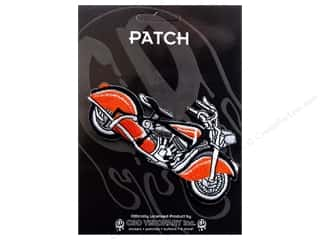 C&D Visionary Patch Vintage Orange&Blk Motorcycle