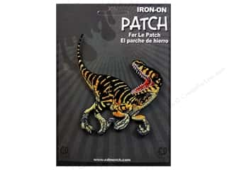 Patches Animals: C&D Visionary Applique Dinosaurs Striped Velociraptor