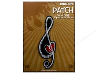 C&amp;D Visionary Patch Music G Clef Heart