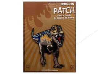 Patches Animals: C&D Visionary Applique Dinosaurs Purple & Brown T-Rex