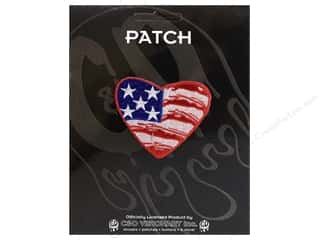 Clearance C&D Visionary Patches: C&D Visionary Applique Flags Heart US Flag