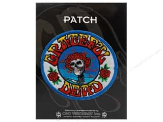 Clearance C&D Visionary Patches: C&D Visionary Applique Grateful Dead Skull Roses Logo