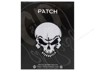Clearance C&D Visionary Patches: C&D Visionary Applique Skulls Angry Skull