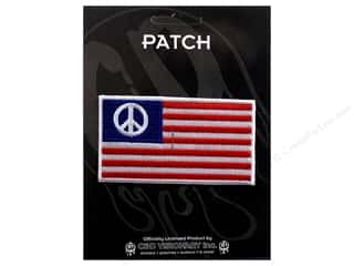 Clearance C&D Visionary Patches: C&D Visionary Applique Peace Signs Peace Flag