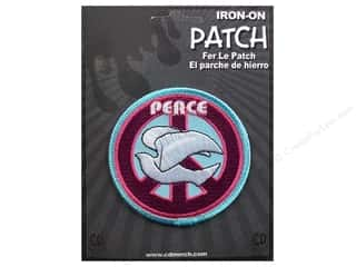 Clearance C&D Visionary Patches: C&D Visionary Applique Peace Signs Dove Peace