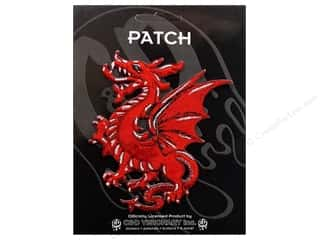Patches Animals: C&D Visionary Applique Dragons Red Dragon