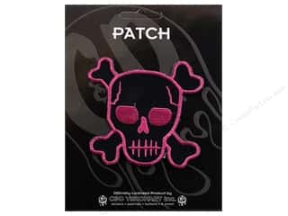Clearance C&D Visionary Patches: C&D Visionary Applique Skulls Pink Skull