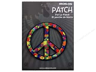 C&D Visionary Applique Peace Signs Flower Power Peace