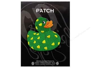 C&amp;D Visionary Patch Animals Hearts Rubber Ducky