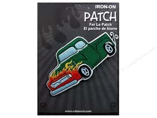 C&amp;D Visionary Patch Car Culture Green Hot Rod
