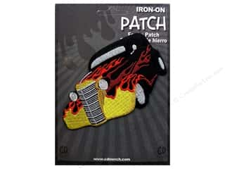 C&D Visionary Patch Car Culture Blk Hot Rod Flames