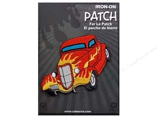 C&amp;D Visionary Patch Car Culture Red Hot Rod Flames