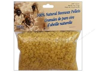 Candle Making Supplies Fabric Painting & Dying: Yaley Wax Beeswax 100% Pellets 4oz Natural