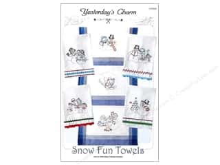 Stitchery, Embroidery, Cross Stitch & Needlepoint Holiday Gift Ideas Sale: Yesterday's Charm Snow Fun Towels Pattern