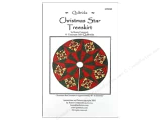Quiltricks Quilt Patterns: Quiltricks Christmas Star Treeskirt Pattern