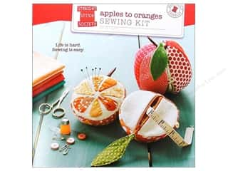 Fruit & Vegetables Dritz Pin Cushion: Straight Stitch Society ApplesTo Oranges Sewing Kit Pattern