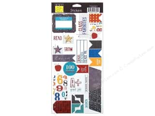 Back To School Framing: Bazzill Cardstock Stickers School Days Embellishments