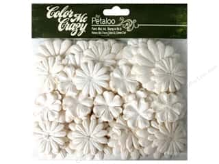 Bazzill Embellishment Flowers / Blossoms / Leaves: Petaloo Color Me Crazy Value Pack Layers Medium 288pc