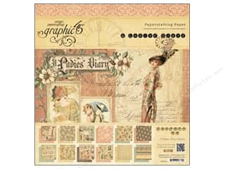 Graphic 45 A Ladies' Diary 12 x 12 in. Paper Pad