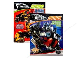 Jumbo Coloring & Activity Astd Transformers Book