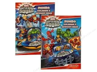 Jumbo Coloring & Activity Astd Super Hero Book