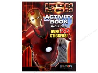 Books & Patterns Bendon Books: Bendon Activity Book with Stickers Iron Man