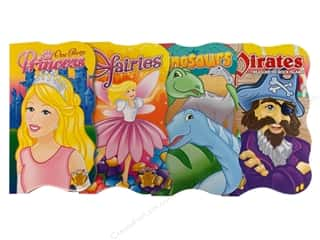 Activity Books / Puzzle Books: Shaped Board Books Assorted Princess/Fairy/Dinosaur/Pirate