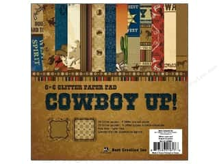 Best Creation Glitter Paper Pad 6 x 6 in. Cowboy Up! 24 pc.