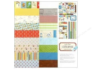 phrase stickers: Crate Paper Collection Pack 12x12 Little Boy Blue