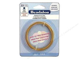Beadalon German Style Wire Rnd 22ga Sat Brass 10M