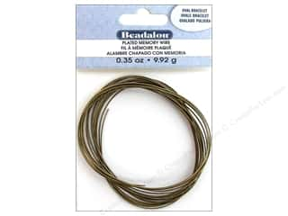 Beadalon Plated Steel Memory Wire Oval Bracelet Antique Brass .35 oz.