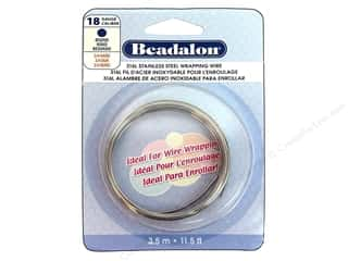 Wire Stainless: Beadalon 316L Stainless Steel Wrapping Wire 18 ga Round 11 1/2 ft.