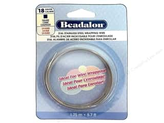 beadalon steel wire: Beadalon 316L Stainless Steel Wrapping Wire 18 ga Square