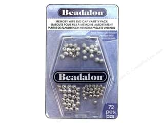 Findings inches: Beadalon Memory Wire End Cap Variety Pack 72 pc.