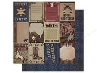 Best Creation Paper 12x12 Cowboy Cowboy Tags (25 piece)