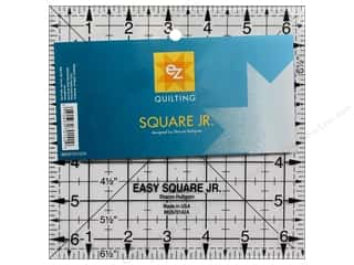 EZ Notions Sewing Construction: EZ Quilting Easy Square Jr. Acrylic Ruler 6 1/2 in.
