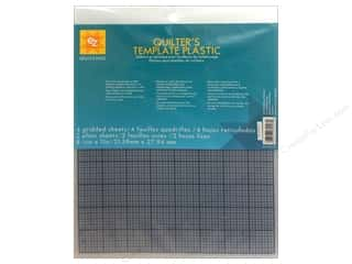 EZ Template Plastic 8.5&quot;x 11&quot; Quilter&#39;s Astd 6pc