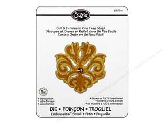 Embossing Aids Sizzix Die: Sizzix Embosslits Die Baroque Icon by Scrappy Cat