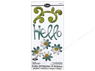 Sizzix Sizzlits Die Set 3 pc. Hello