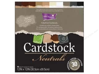 "Coredinations Designer Papers & Cardstock: Coredinations Cardstock Pack 12""x 12"" ColorCore Neutrals"