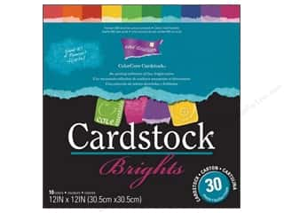 "Coredinations $10 - $12: Coredinations Cardstock Pack 12""x 12"" ColorCore Brights"