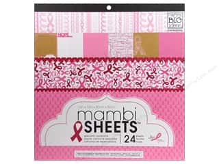 MAMBI Sheets Cdstk Pad 12x12 BCRF Fight Like AGirl