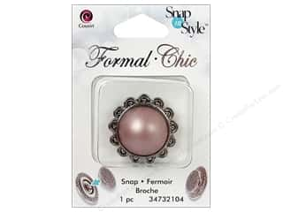 CousN Snap N Style Snap Formal Pink Pearl Flower
