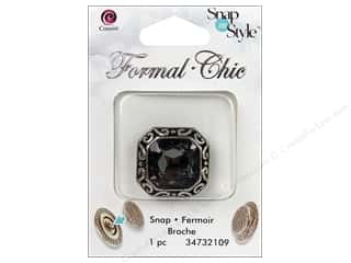 Snaps Cousin Snap in Style Snap: Cousin Snap in Style Snap Formal Smoke Square Rhinestone