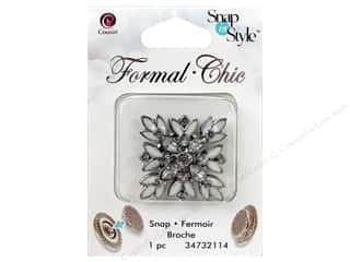 Beading & Jewelry Making Supplies: CousN Snap N Style Snap Formal Diamond Rhinstne