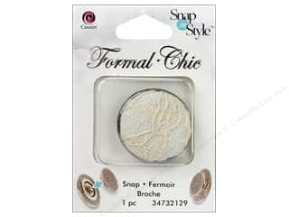 Beading & Jewelry Making Supplies: CousN Snap N Style Snap Formal White Lace
